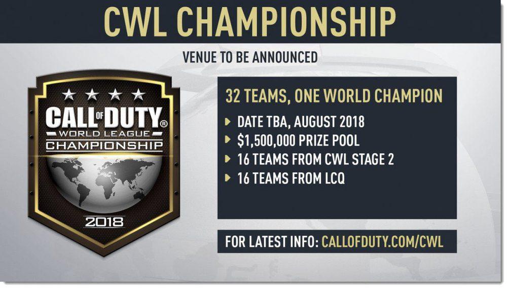 COD championship tournament 2018