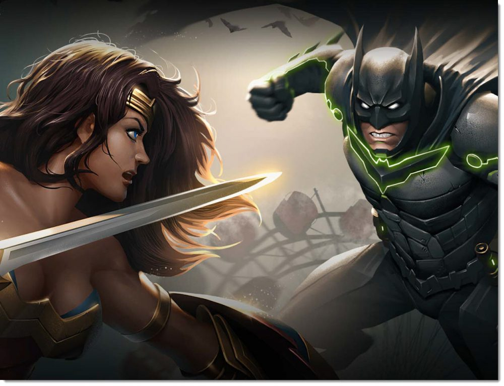 wonder woman vs batman injutice 2