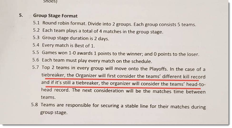 group format rules msc