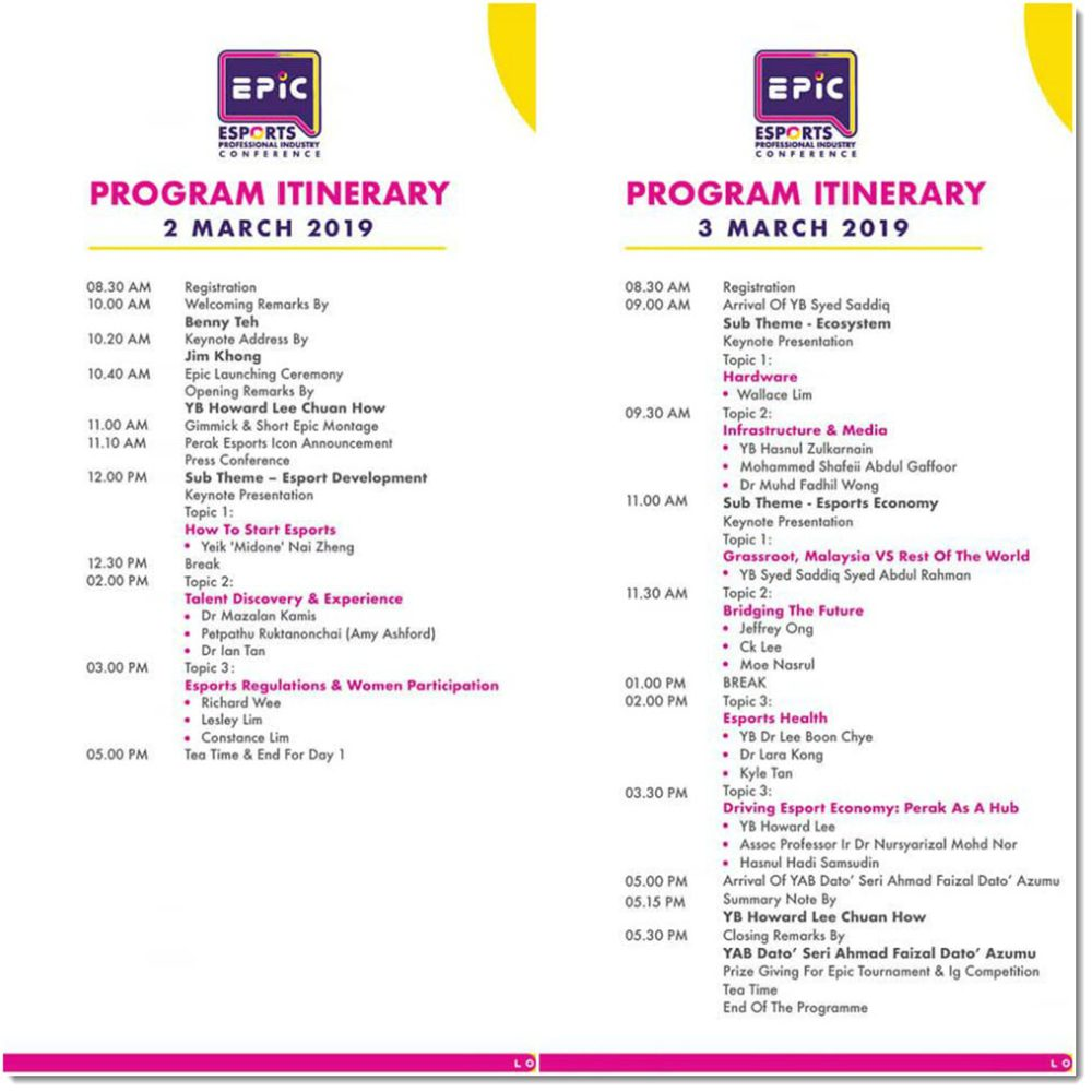 Epic full itinerary