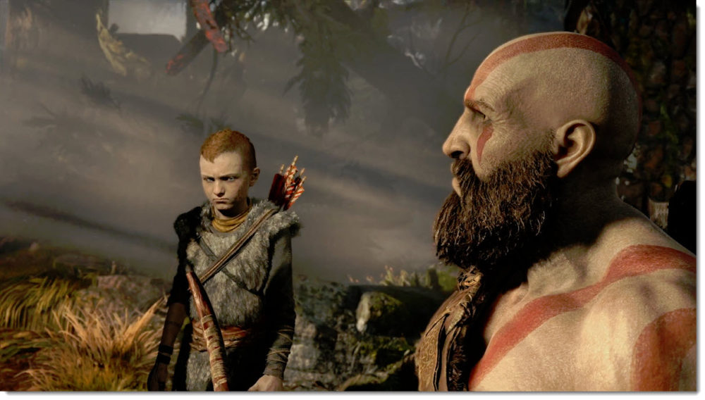 Kratos and son in awe bebeh